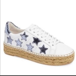 Marc fisher Ltd edition star platform sneakers 7.5